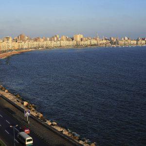 Egypte, Alexandrie, le front de mer