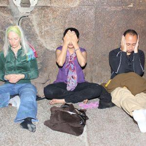Hearing and Meditation inside Khufu pyramid