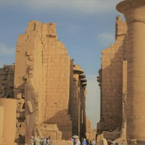 the great temple of karnak luxor look at egypt