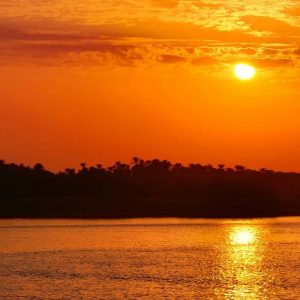 sun set on the nile egypt