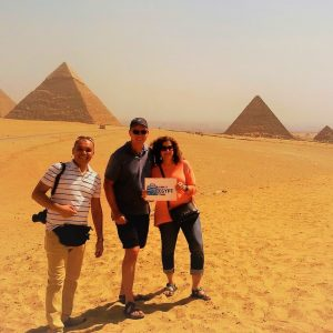 look at egypt tours customers at the pyramids