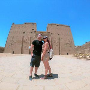 temple of edfu couple trip egypt