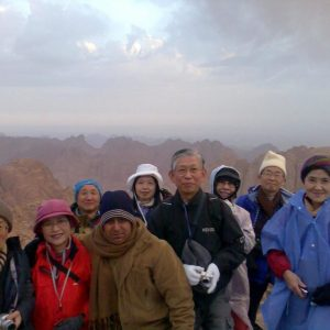 At the top of Mountain Sinai