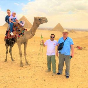 family tour in egypt camel ride