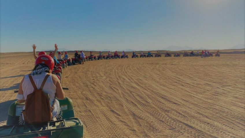 Egypt Adventure Travel Ideas, itineraries and Inspiration. Hurghada Mega Desert Safari Quad Bike, 4W Jeep & Camel Ride