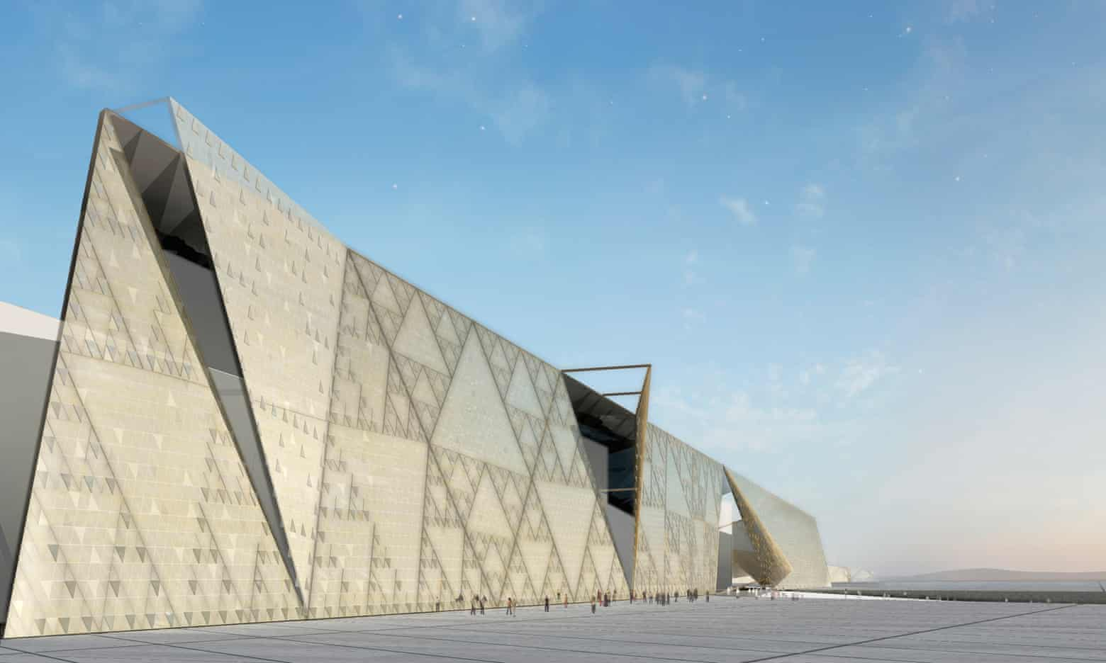 The Grand Egyptian Museum exteriror