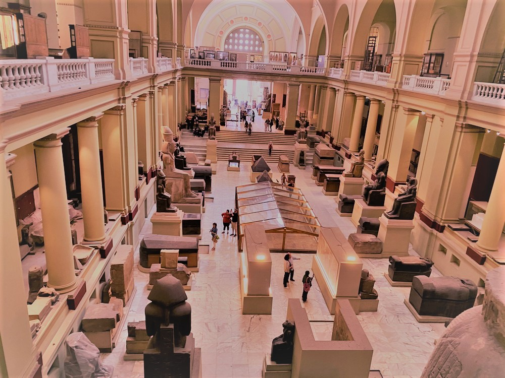the Egyptian museum at tahrir