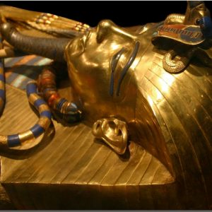 best image for the golden coffine of king tutankhamun