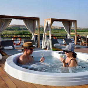 luxury nile cruise sundeck egypt